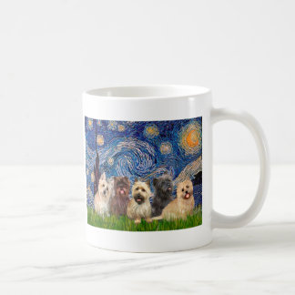 Cairn Terriers (Five) - Starry Night Coffee Mug