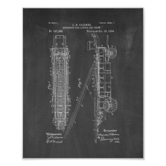 Cairnes Extension Fire-ladder And Truck Patent - C Poster