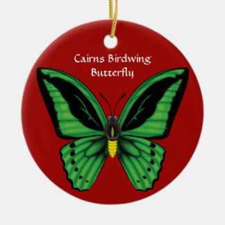 Cairns Birdwing Butterfly, Dorsal and Ventral Ceramic Ornament