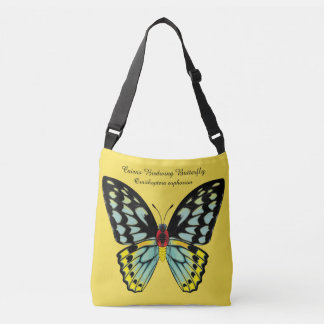 Cairns Birdwing Butterfly Dorsal and Ventral Crossbody Bag