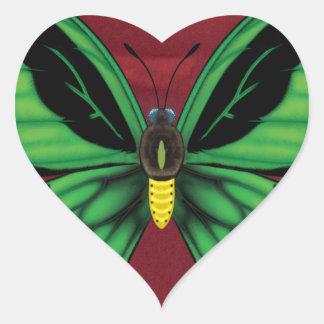 Cairns Birdwing Butterfly Heart Sticker