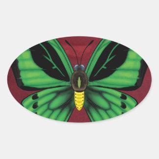 Cairns Birdwing Butterfly Oval Sticker