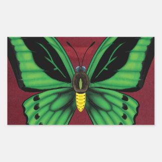 Cairns Birdwing Butterfly Rectangular Sticker