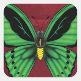 Cairns Birdwing Butterfly Square Sticker