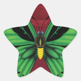 Cairns Birdwing Butterfly Star Sticker