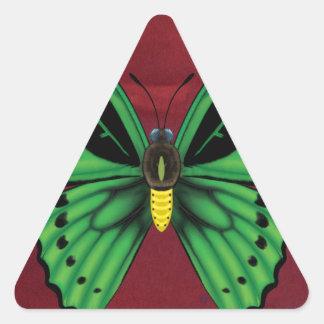 Cairns Birdwing Butterfly Triangle Sticker