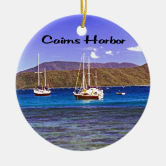 Cairns Harbor Queensland Australia Ceramic Ornament