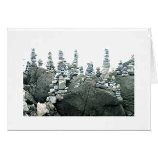 Cairns (small stone sculptures) card