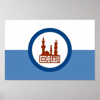 Cairo city flag Egypt symbol Poster