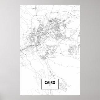 Cairo, Egypt (black on white) Poster