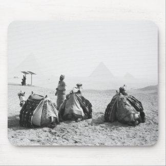 Cairo Egypt, Camel Jockeys Giza Pyramids (NR) Mousepads