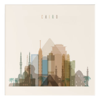 Cairo, Egypt | City Skyline Acrylic Wall Art