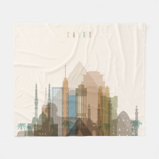 Cairo, Egypt | City Skyline Fleece Blanket