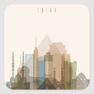 Cairo, Egypt | City Skyline Square Sticker