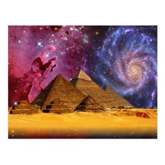 Cairo Egypt Pyramids Galaxy Postcard