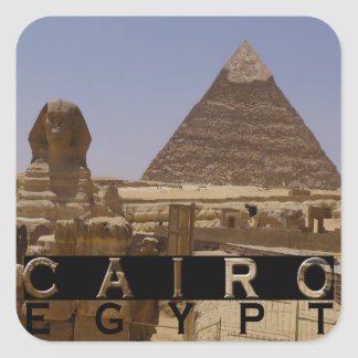 Cairo Egypt Souvenir Square Sticker