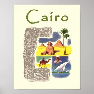Cairo, Egypt travel poster