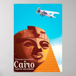 Cairo Egypt Vintage style travel poster