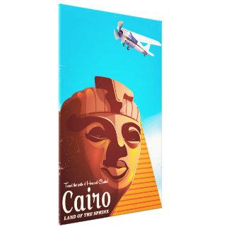 Cairo Egypt Vintage style travel poster Canvas Print