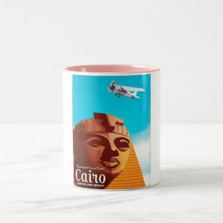 Cairo Egypt Vintage style travel poster Two-Tone Coffee Mug