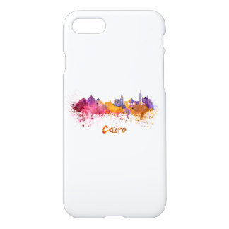 Cairo skyline in watercolor iPhone 8/7 case