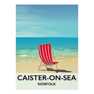Caister-on-Sea Seaside travel poster
