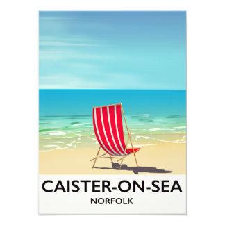 Caister-on-Sea Seaside travel poster Art Photo