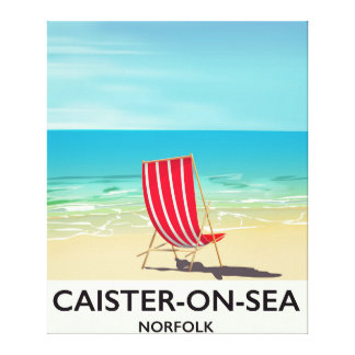 Caister-on-Sea Seaside travel poster Canvas Print