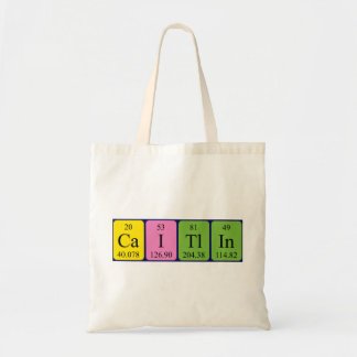 Caitlin periodic table name tote bag