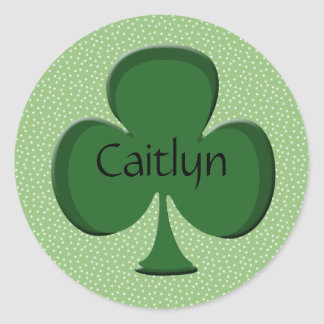 Caitlyn Shamrock Name Sticker / Seal