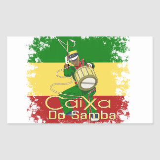 Caixa Batucada Samba Rectangular Sticker
