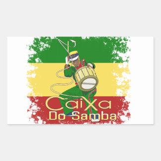 Caixa Batucada Samba Rectangular Sticker