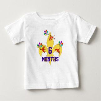 Cajun Baby Birthday Milestone Baby T-Shirt