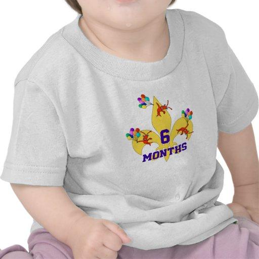 Cajun Baby Birthday Milestone Tees