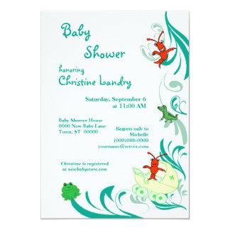 Cajun Baby Shower Gender Neutral (white) Card