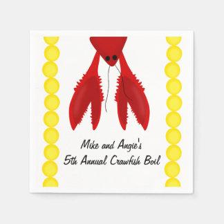 Cajun Crawfish Boil Party Napkins Paper Napkins