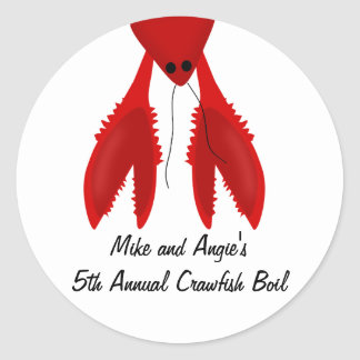 Cajun Crawfish Boil Party Stickers