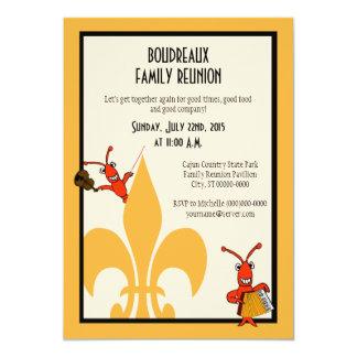 Cajun Crawfish Fleur de Lis Family Reunion Card
