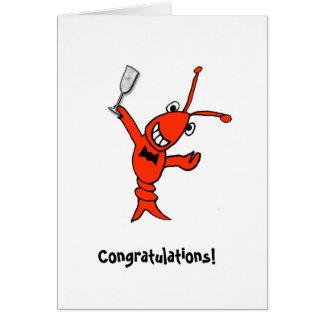 Cajun Crawfish/Lobster Personalized Card