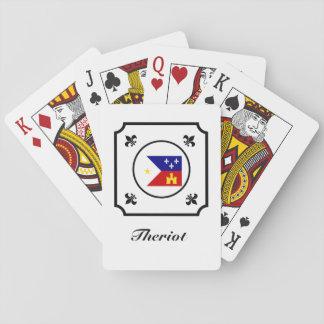 Cajun Flag Acadian Flag Fleur-de-Lis Deck of Cards