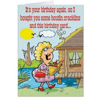 Cajun Good Time Greetings Card