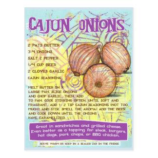Cajun Onions Recipe Postcard
