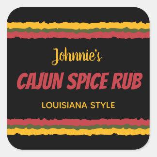 Cajun spice rub seasoning mix square sticker