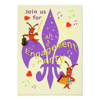 Cajun Themed Engagement Party Invitation