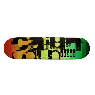 Cajun; Vibrant Green, Orange, & Yellow 20.6 Cm Skateboard Deck