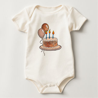 Cake-015 Apricot and Peach Baby Bodysuit
