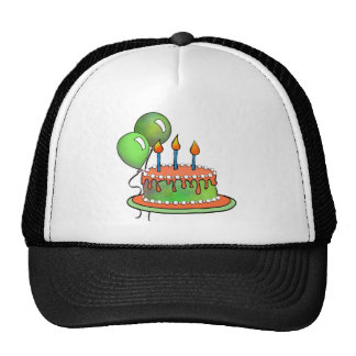 Cake-017 Orange and Lime Green Cap