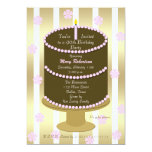 Cake 90th Birthday Party Invitation - 90th in Pink