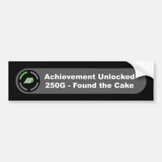 Cake - Achievement Unlocked Bumper Sticker
