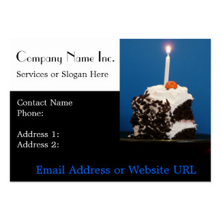 Cake and Candle for Bakery or Caterer Business Card Templates